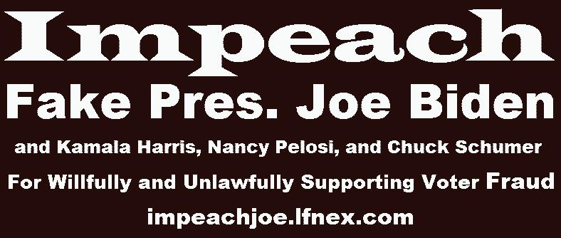 Impeach Fake President Joe Biden